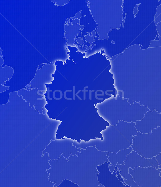 Stock photo: Map of Germany