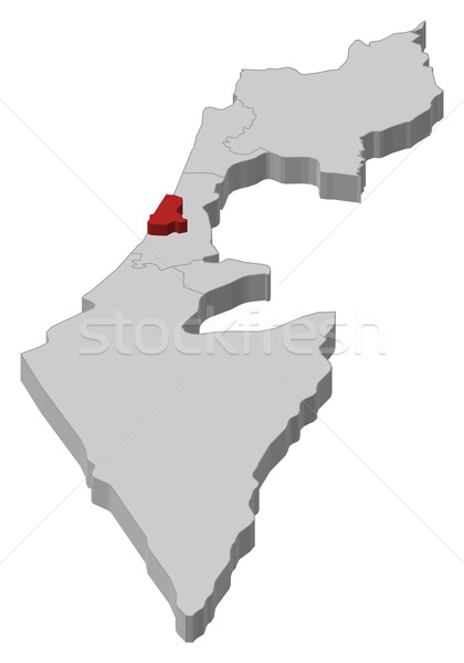Map of Israel, Tel Aviv highlighted Stock photo © Schwabenblitz