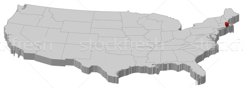 Map of the United States, Rhode Island highlighted Stock photo © Schwabenblitz