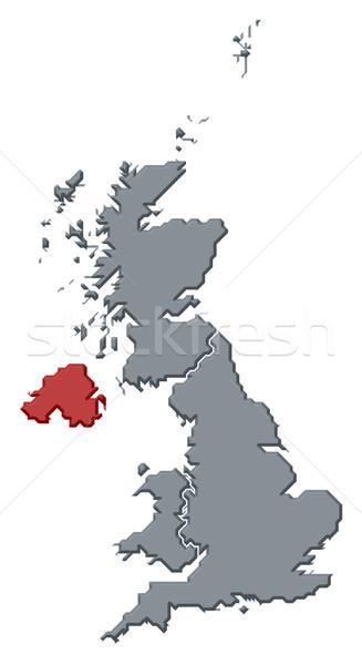 Map of United Kingdom, Northern Ireland highlighted Stock photo © Schwabenblitz