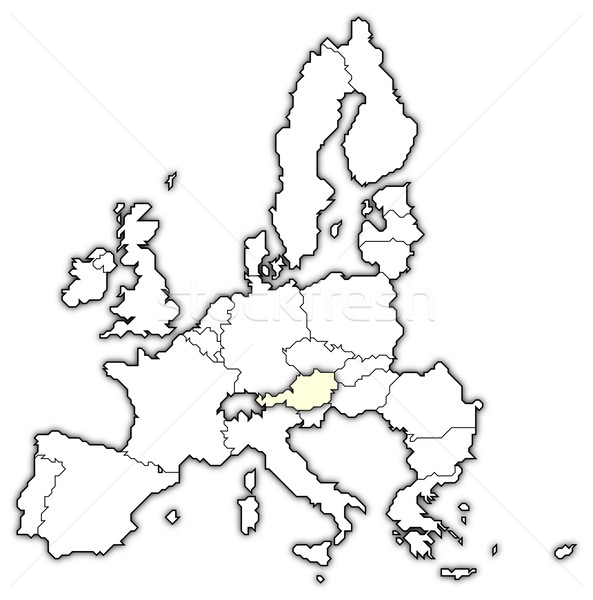 Map of the European Union, Austria highlighted Stock photo © Schwabenblitz