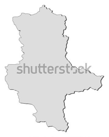 Map of Saxony-Anhalt (Germany) Stock photo © Schwabenblitz