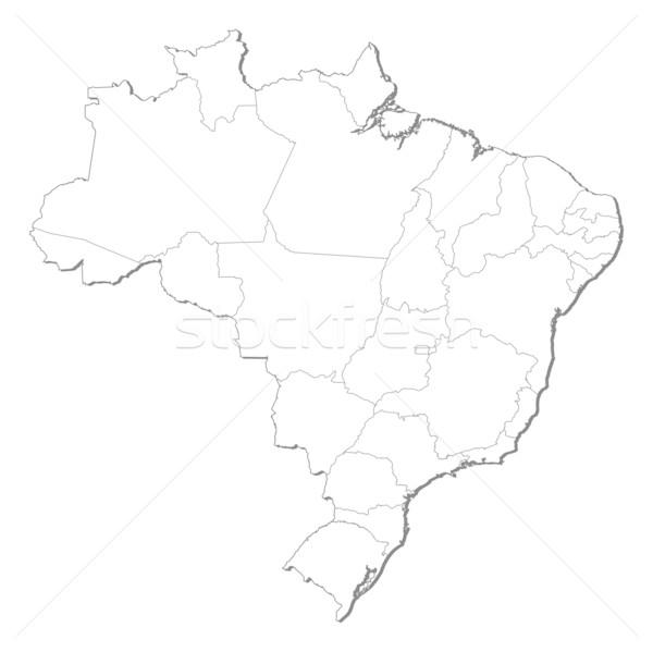 Pokaż Brazylia polityczny kilka streszczenie ziemi Zdjęcia stock © Schwabenblitz