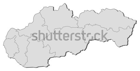 Térkép Kazahsztán politikai néhány régiók földgömb Stock fotó © Schwabenblitz