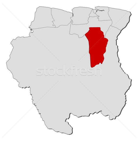 Сток-фото: карта · Суринам · политический · несколько · мира · аннотация