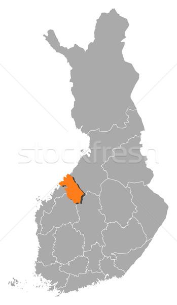 Map of Finland, Central Ostrobothnia highlighted Stock photo © Schwabenblitz