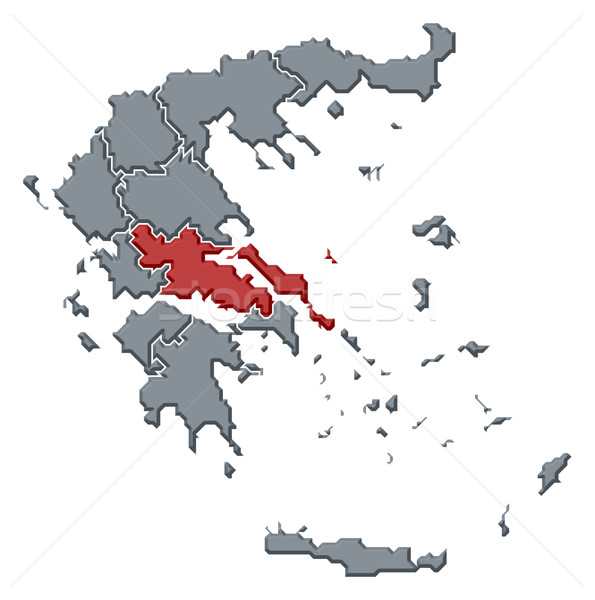 Map of Greece, Central Greece highlighted Stock photo © Schwabenblitz