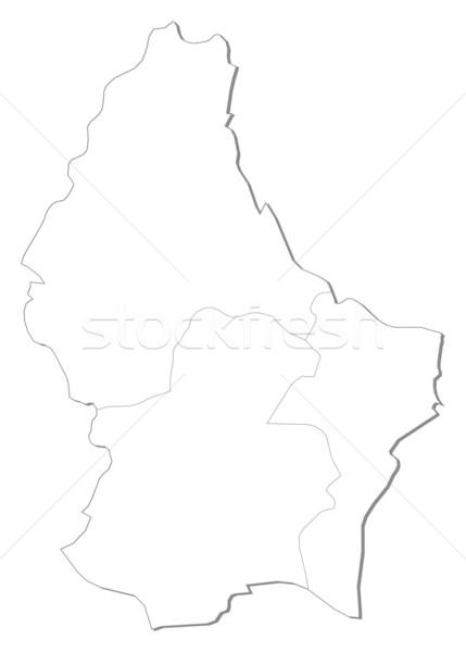 Kaart Luxemburg politiek verscheidene abstract aarde Stockfoto © Schwabenblitz