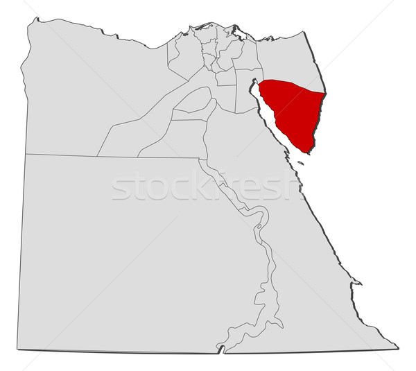 Map of Egypt, South Sinai highlighted Stock photo © Schwabenblitz