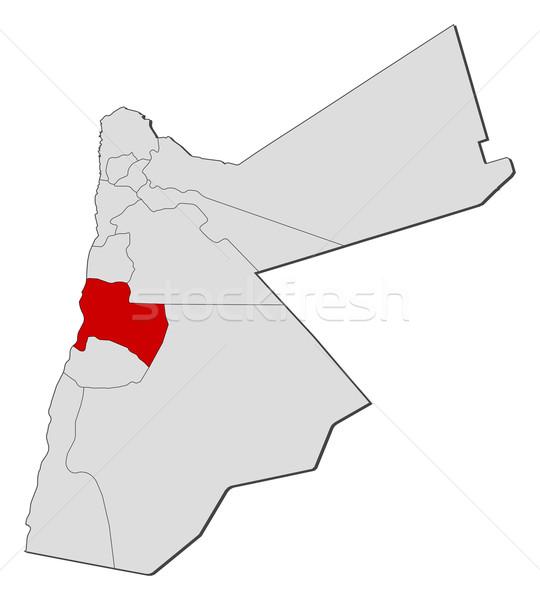 Foto stock: Mapa · Jordânia · político · vários · globo · abstrato