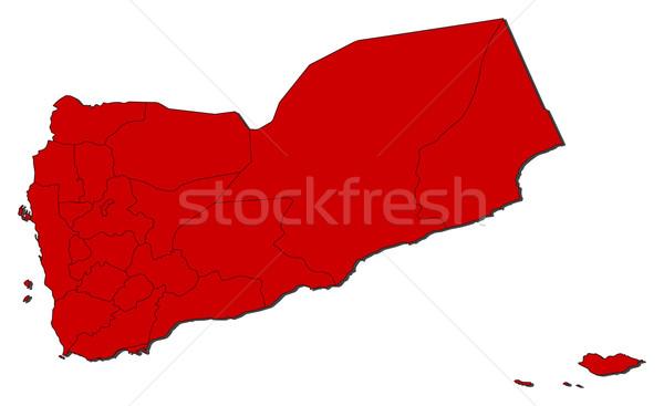 Térkép Jemen politikai néhány absztrakt világ Stock fotó © Schwabenblitz