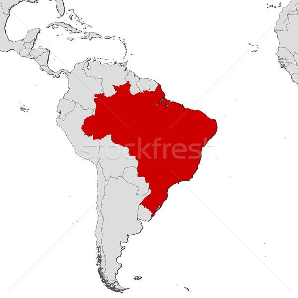 Stock photo: Map of Brazil
