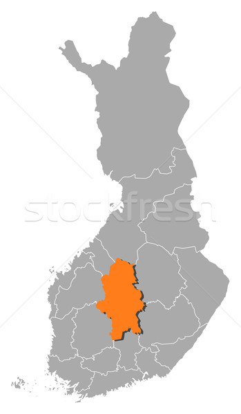 Map of Finland, Central Finland highlighted Stock photo © Schwabenblitz