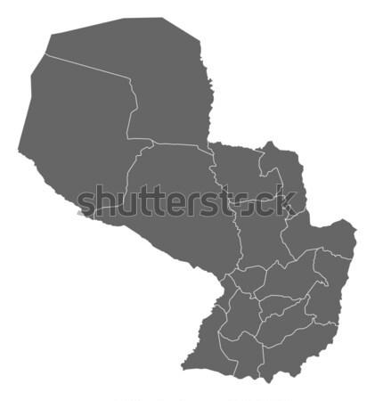 Pokaż Paragwaj polityczny kilka streszczenie świat Zdjęcia stock © Schwabenblitz