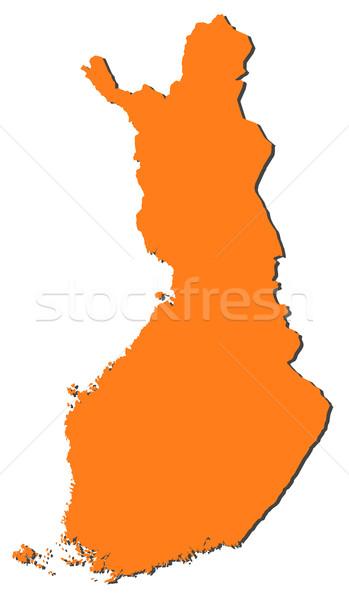 Mappa Finlandia politico parecchi regioni abstract Foto d'archivio © Schwabenblitz