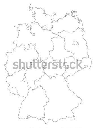 Map of Germany Stock photo © Schwabenblitz