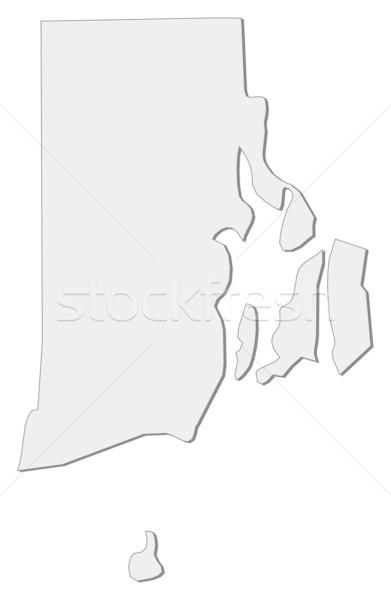 Harita Rhode Island Amerika Birleşik Devletleri soyut arka plan iletişim Stok fotoğraf © Schwabenblitz
