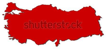 Mapa Honduras vermelho abstrato mundo Foto stock © Schwabenblitz