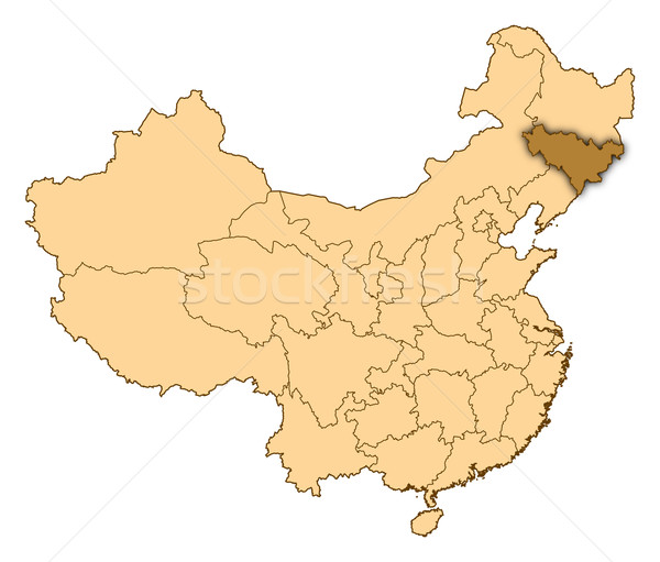 Map of China, Jilin highlighted Stock photo © Schwabenblitz