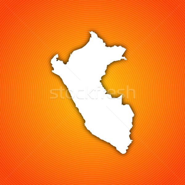 Kaart Peru politiek verscheidene regio abstract Stockfoto © Schwabenblitz