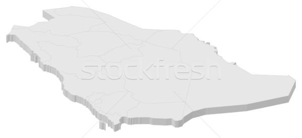 Kaart Saoedi-Arabië politiek verscheidene abstract wereld Stockfoto © Schwabenblitz