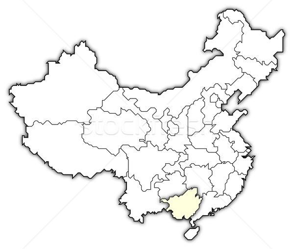 Harita Çin siyasi birkaç soyut arka plan Stok fotoğraf © Schwabenblitz