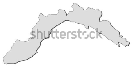 Map of Liguria (Italy) Stock photo © Schwabenblitz
