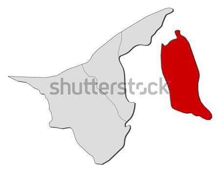 Map - Brunei Stock photo © Schwabenblitz