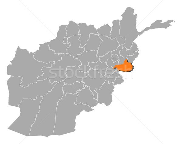 Térkép Afganisztán politikai néhány földgömb absztrakt Stock fotó © Schwabenblitz