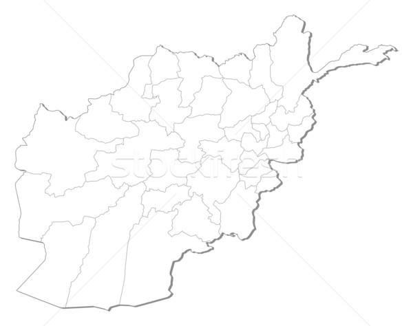 Térkép Afganisztán politikai néhány absztrakt Föld Stock fotó © Schwabenblitz
