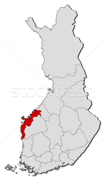 Mapa Finlândia político vários regiões globo Foto stock © Schwabenblitz