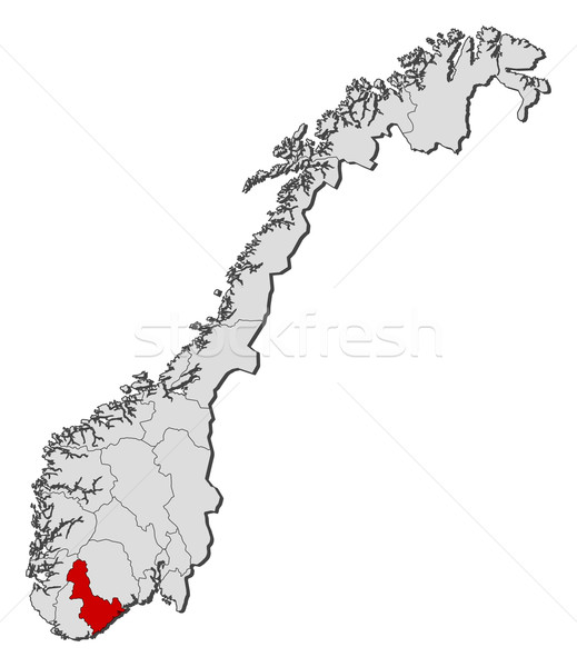Map of Norway, Aust-Agder highlighted Stock photo © Schwabenblitz