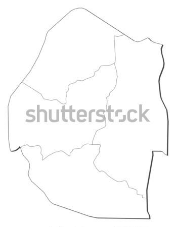 Map of Paraguay Stock photo © Schwabenblitz