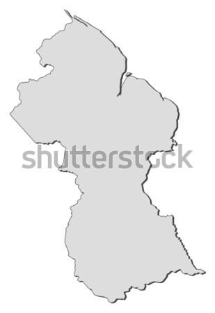Térkép Guyana politikai néhány régiók absztrakt Stock fotó © Schwabenblitz
