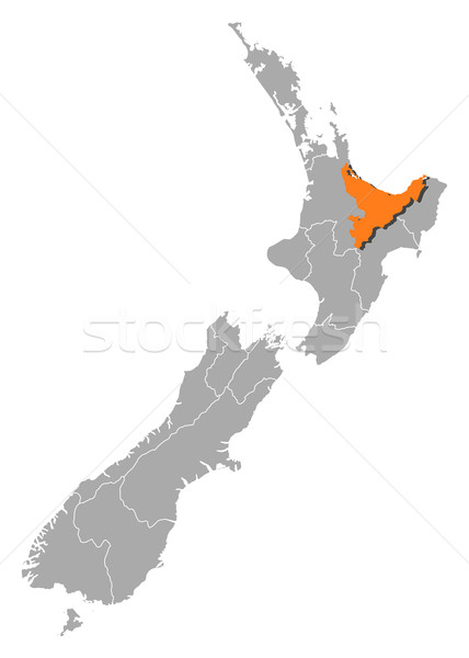Map of New Zealand, Bay of Plenty highlighted Stock photo © Schwabenblitz