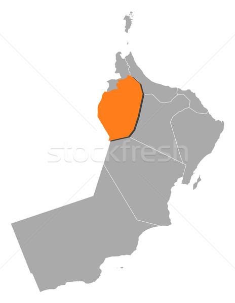 Harita Umman siyasi birkaç bölgeler Stok fotoğraf © Schwabenblitz
