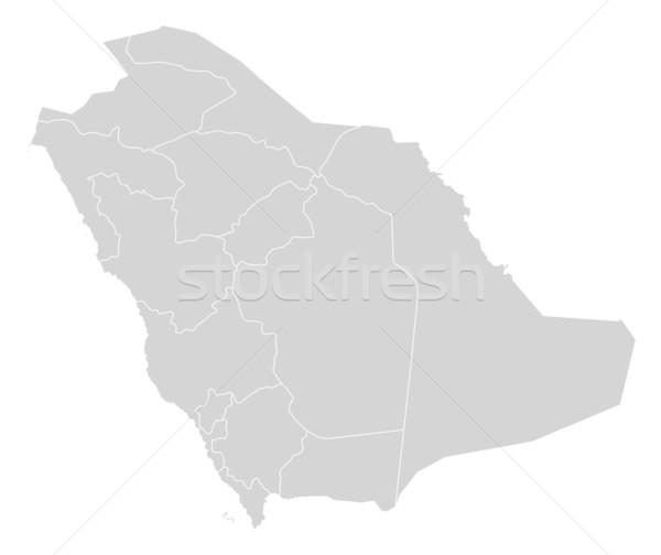 Harita Suudi Arabistan siyasi birkaç soyut dünya Stok fotoğraf © Schwabenblitz