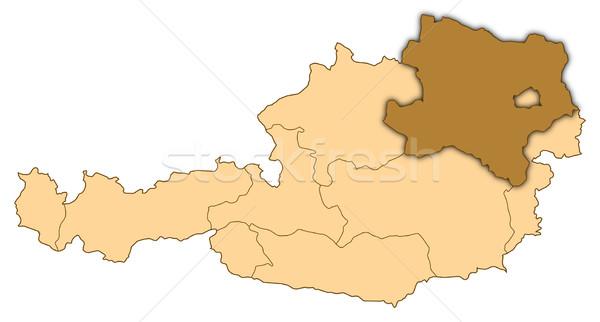 Сток-фото: карта · Австрия · снизить · аннотация · фон · связи
