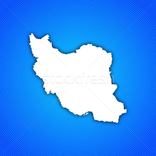 Mapa Irã político vários abstrato mundo Foto stock © Schwabenblitz