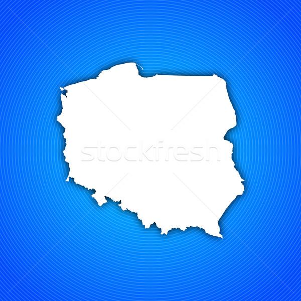 Foto stock: Mapa · Polônia · político · vários · abstrato · mundo