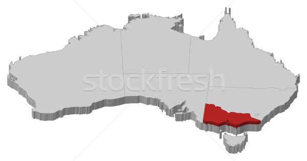 Map of Australia, Victoria highlighted Stock photo © Schwabenblitz