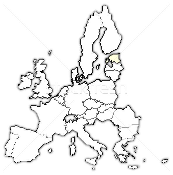 Kaart europese unie Estland politiek verscheidene Stockfoto © Schwabenblitz