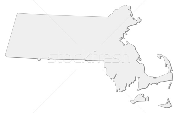 Térkép Massachusetts Egyesült Államok absztrakt háttér kommunikáció Stock fotó © Schwabenblitz