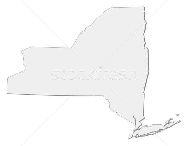 Harita New York Amerika Birleşik Devletleri soyut arka plan iletişim Stok fotoğraf © Schwabenblitz