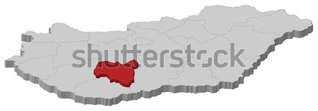 Сток-фото: карта · Венгрия · политический · несколько · мира · аннотация