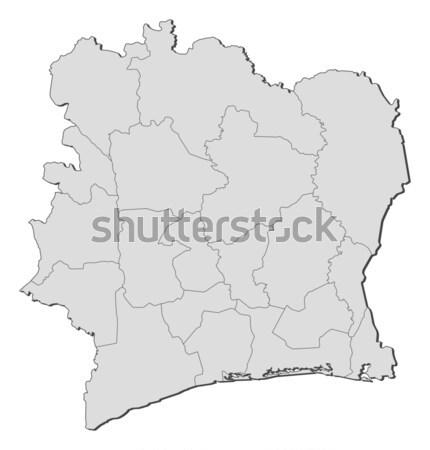 Térkép Elefántcsontpart politikai néhány régiók absztrakt Stock fotó © Schwabenblitz