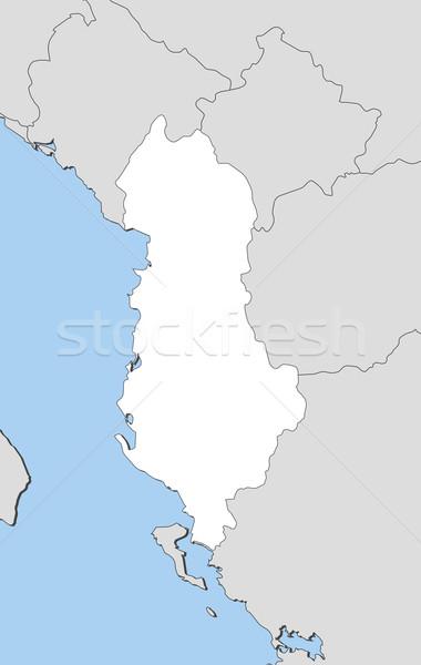 Stock fotó: Térkép · Albánia · politikai · néhány · absztrakt · világ