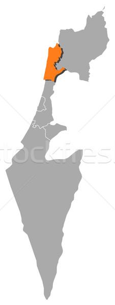 Map of Israel, Haifa highlighted Stock photo © Schwabenblitz