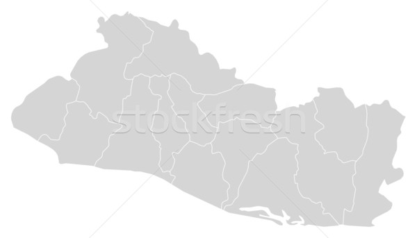 Map of El Salvador Stock photo © Schwabenblitz