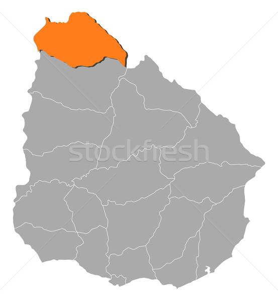 карта Уругвай политический несколько аннотация фон Сток-фото © Schwabenblitz